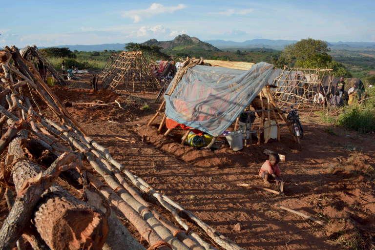 Le camp de Kapise, au Malawi, où des milliers de Mozambicains se réfugient après avoir fui les violences.