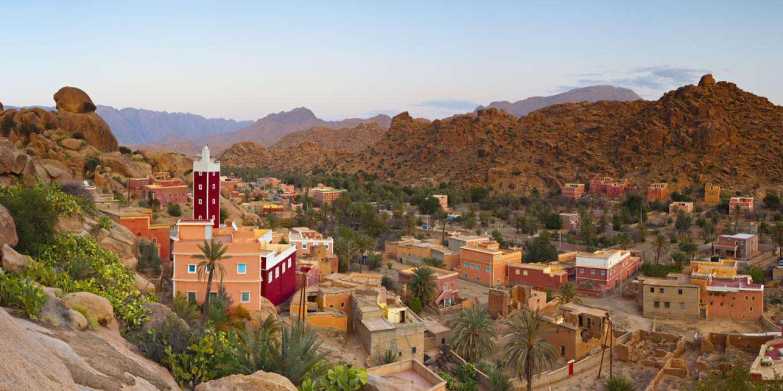 Red Mosque, Adai, Tafraoute, Anti Atlas, Morocco