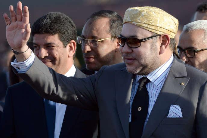 Le roi Mohammed VI, lors de l'inauguration de la centrale solaire Noor 1, le 4 février.