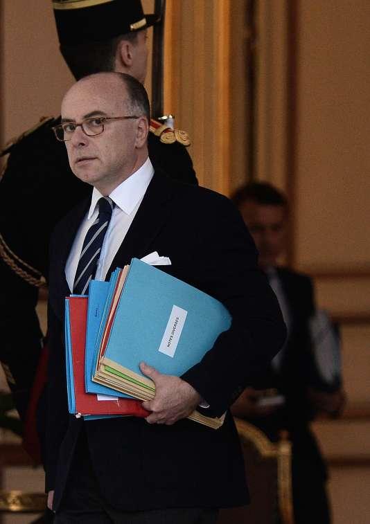Le ministère de l'intérieur Bernard Cazeneuve, mercredi 10 février à l'Elysée.