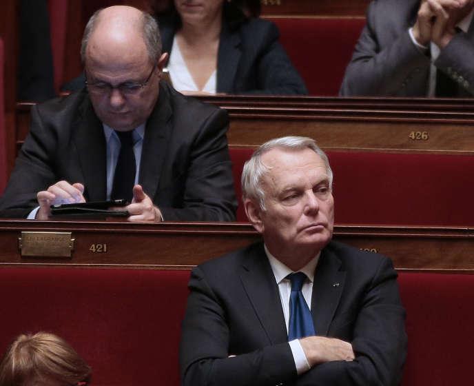 Jean-Marc Ayrault, le nouveau Ministre des affaires étrangères, à l'Assemblée nationale, le 10 février 2016.