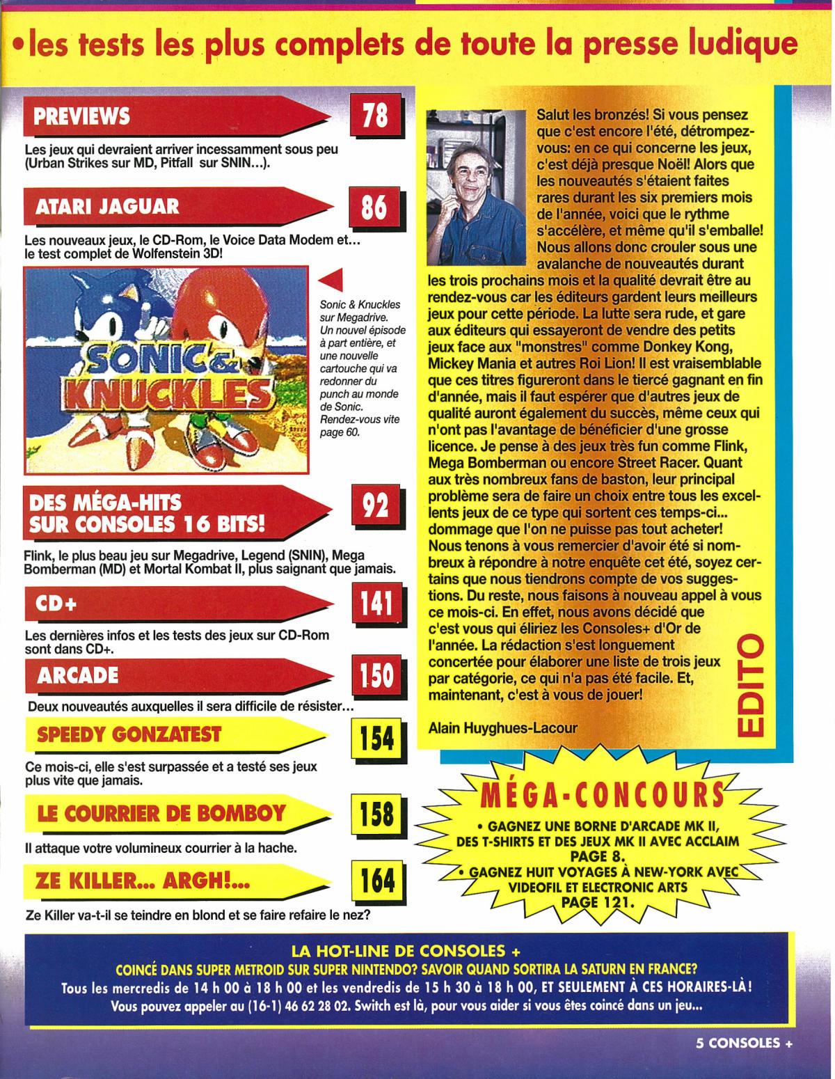 Un éditorial de Alain Huyghues-Lacour dans «Consoles+», en 1994.