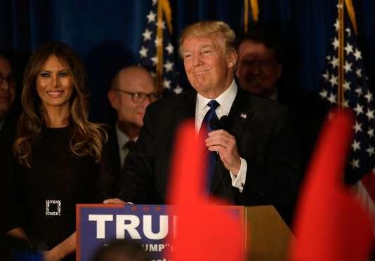 Donald Trump à Manchester (New Hampshire), le 9 février.