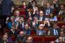 Des députés socialistes lors des débat sur la déchéance de nationalité et la révision constitutionnelle à l'Assemblée nationale à Paris, le 9 février 2016.