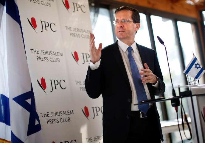 Isaac Herzog à Jérusalem, le 10 février 2016.