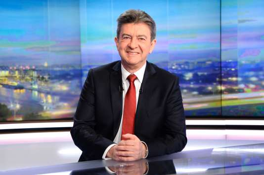 Jean-Luc Mélenchon sur le plateau de TF1 mercredi soir.