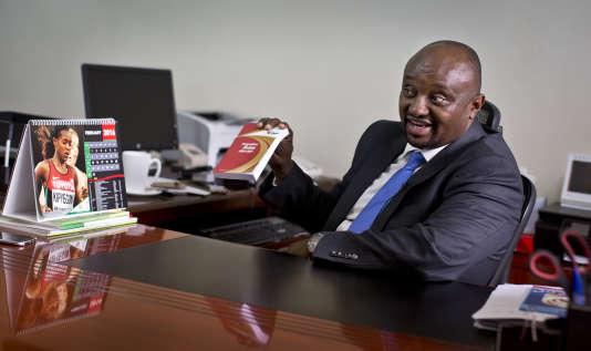 Isaac Mwangi dans son bureau le 8 février 2016.