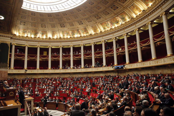 L'Assemblée nationale à Paris, mercredi 10 février 2016