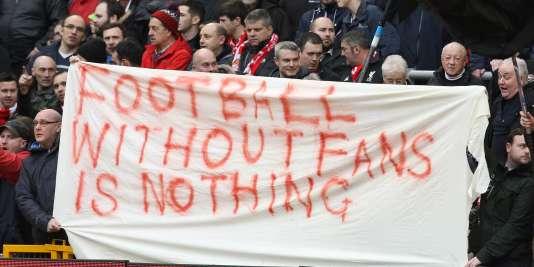 Une banderole de supporteurs de Liverpool samedi dernier face à Sunderland.