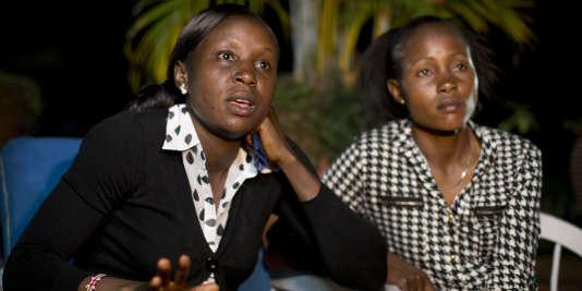 Joy Sakari et Francisca Koki Manunga, les deux athlètes qui accusent Isaac Mwangi.