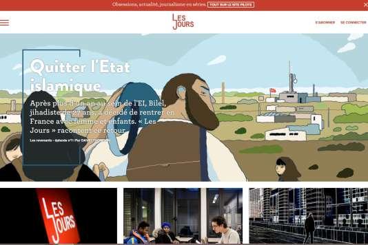 """Capture d'écran du site """"Les Jours"""", jeudi 11 février."""