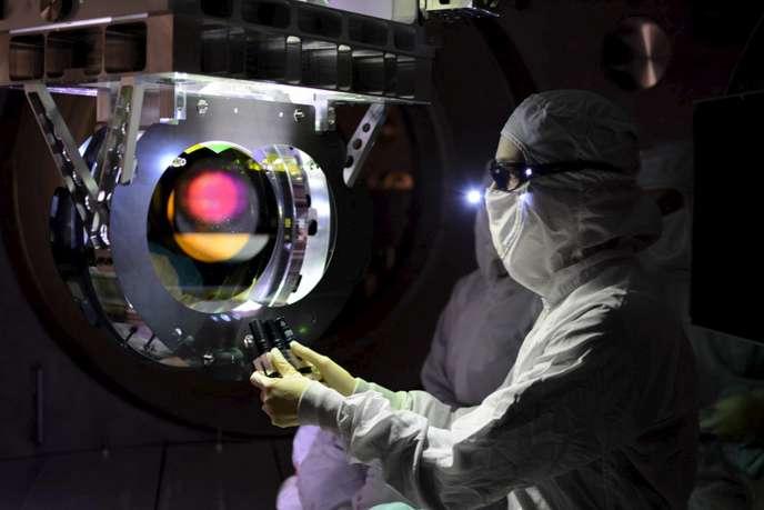 Un interféromètre servant à l'observation des ondes gravitationnelles (LIGO) le 8 février 2016.