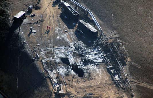 Le puits d'où sont sorties des quantités considérables de méthane depuis le mois d'octobre.