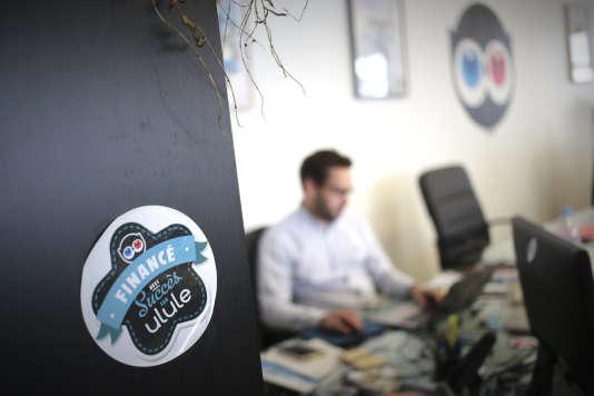 Les bureaux d'Ulule, le leader européen des sites Internet de financement participatif.