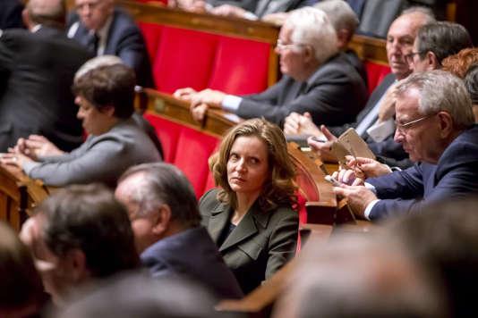 Nathalie Kosciusko-Morizet lors de l'adoption du projet de révision constitutionnelle à l'Assemblée nationale à Paris le 10 février 2016.