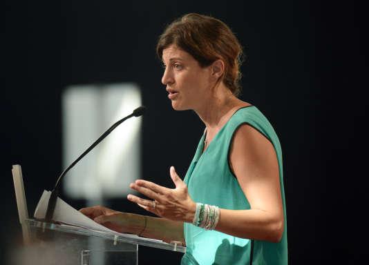 Juliette Méadel, lors de l'université d'été du PS à La Rochelle le 29 août 2015.
