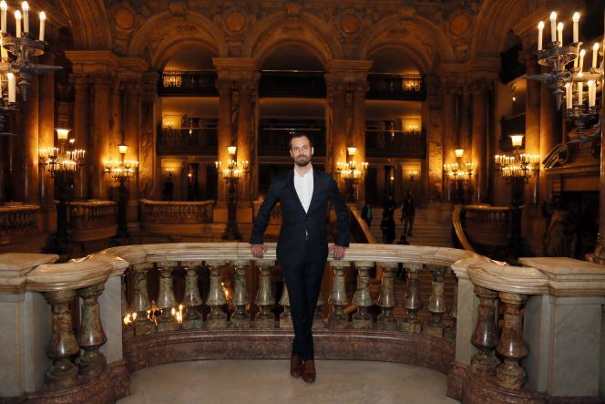 Benjamin Millepied au Palais Garnier à Paris, en janvier 2013.