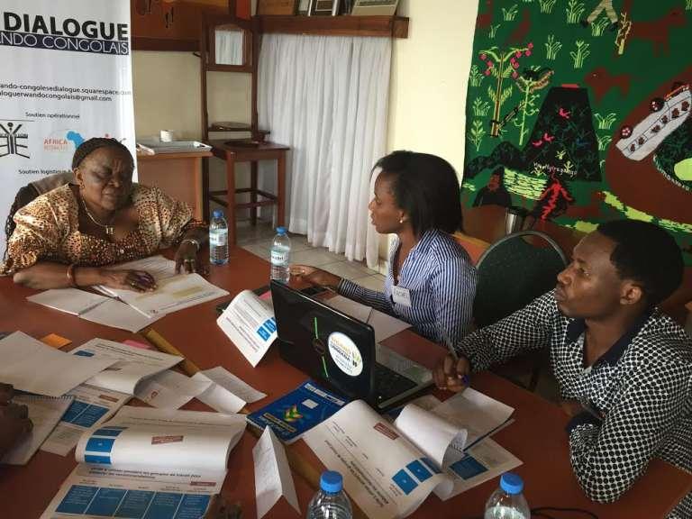 Séance de travail du Dialogue rwando-congolais à Goma, en République démocratique du Congo.