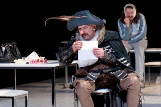 "Philippe Torreton dans ""Cyrano de Bergerac""."