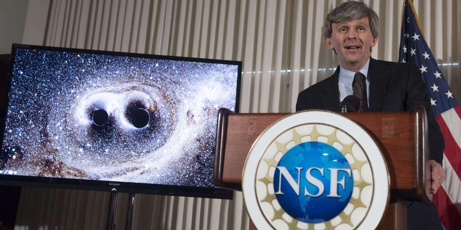 David Reitze, directeur du LIGO, le 11 février.  / AFP / SAUL LOEB