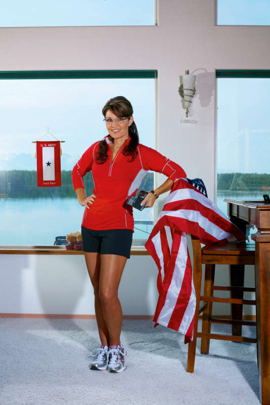 "Sarah Palin lors d'une séance photo pour le ""Runners World Magazine""."