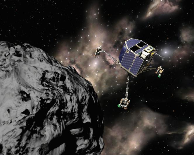 Muet depuis sept mois, le robot Philae s'était posé en novembre 2014 sur le noyau de la comète Tchouri.