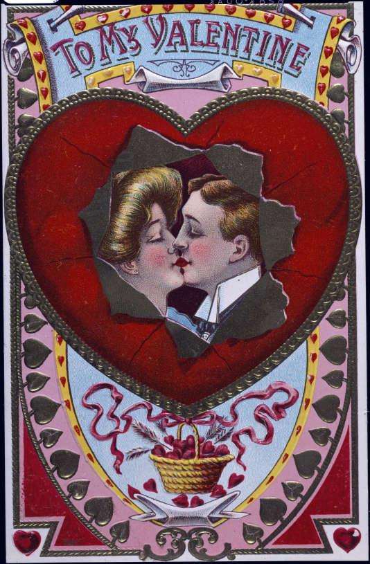 Carte de la Saint Valentin datant de 1908.