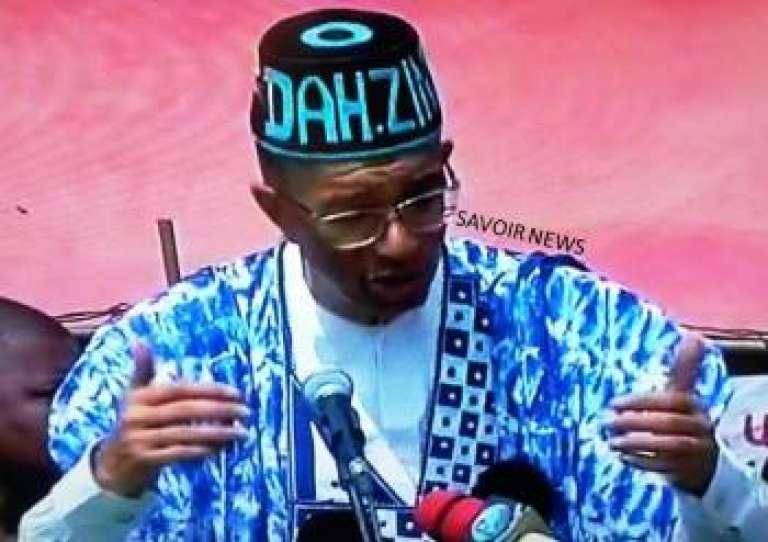Lionel Zinsou, premier ministre et candidat à la présidentielle béninoise, le 6 mars 2016 lors de son discours à la Fête des religions endogènes du Bénin, le 10 janvier 2016.