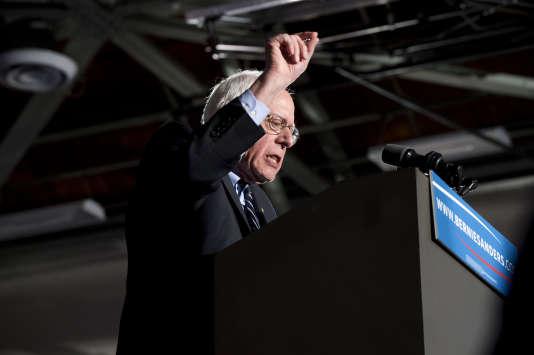 Bernie Sanders à Concord dans le New Hampshire le 9 février 2016.