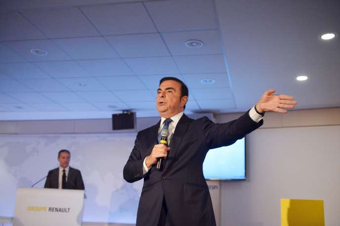 Le PDG de Renault, Carlos Ghosn, le 12 février 2016.