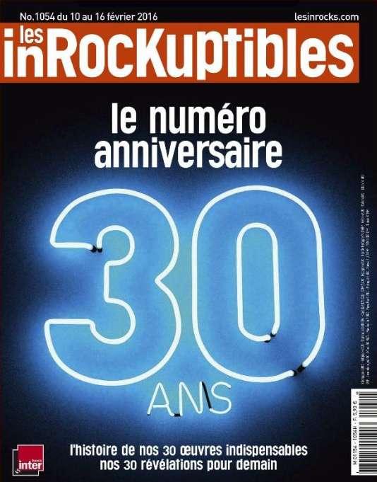 Visuel de la une du numéros spécial anniversaire des 30 ans du magazine «Les Inrockuptibles».