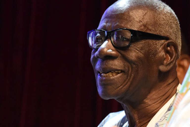 L'écrivain ivoirien Bernard Dadié le 11 février 2016, à l'Unesco, à Paris.