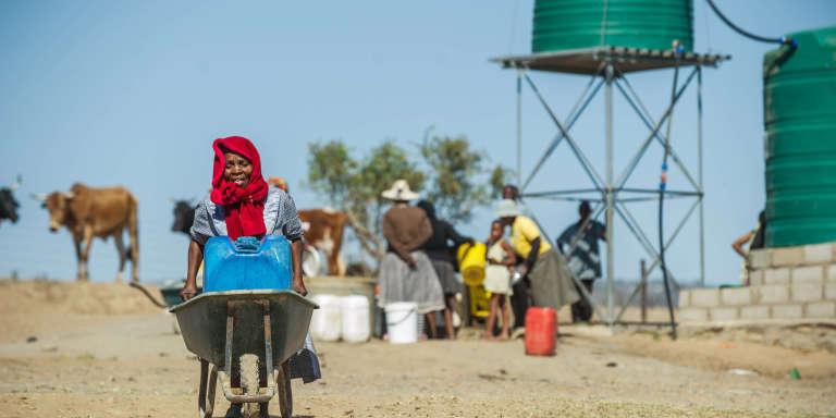 Un point d'eau à Nongoma, au nord-ouest de Durban, en Afrique du Sud.