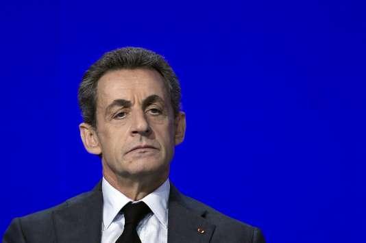 Nicolas Sarkozy, lors du conseil national des Républicains, le 13février.