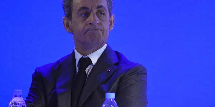 Le président du parti Les Républicains, Nicolas Sarkozy, à Paris, le 13 février.