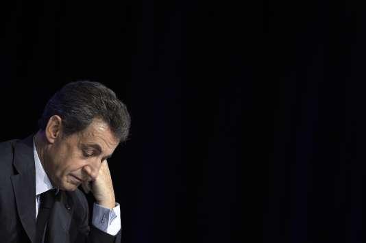 Nicolas Sarkozy lors du conseil national des Républicains.
