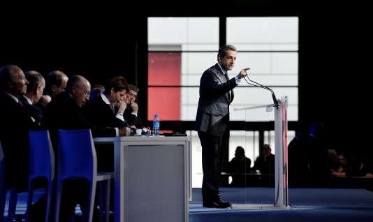 Nicolas Sarkozy au conseil national des Républicains à Paris, le 13 février 2016.