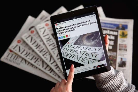 """""""The Independent"""", entièrement gratuit sur Internet, est confronté au manque de rentabilité de la publicité numérique"""