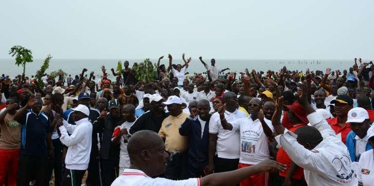 Lors d'une manifestation contre le Rwanda, à Bujumbura le 13 février.