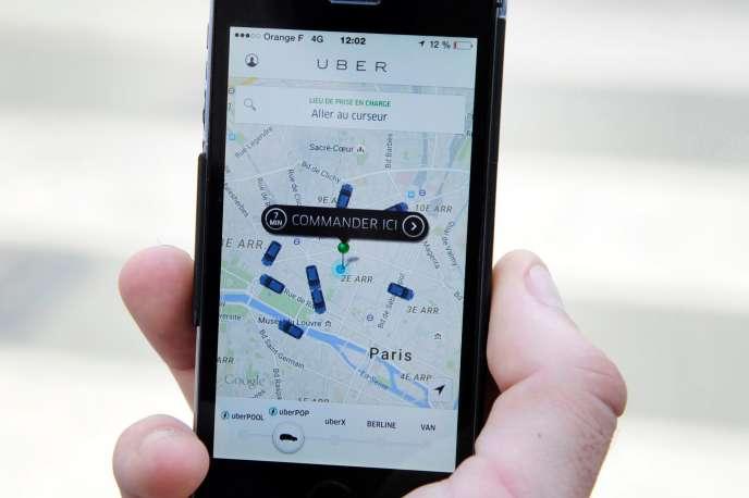 L'application Uber en France.