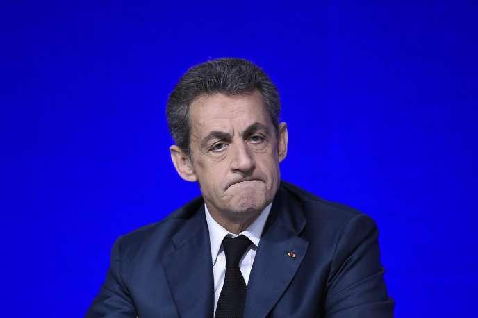 Nicolas Sarkozy au conseil national du parti Les Républicains, le 14 février.