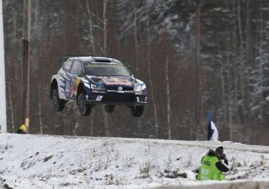 La Polo de Sébastien Ogier, le 14 février, victorieuse du rallye de Suède.