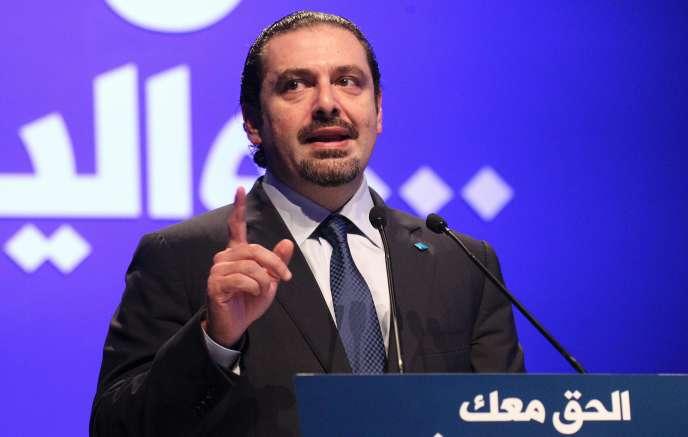 L'ancien premier ministre libanais, Saïd Hariri, à Beyrouth, le 14 février.
