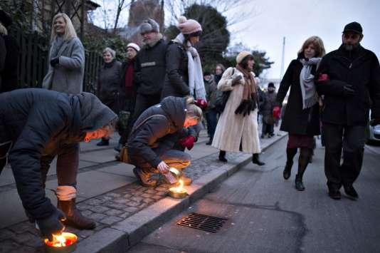 A Copenhague le 14 février, lors de la marche de commémoration des attentats de 2015.