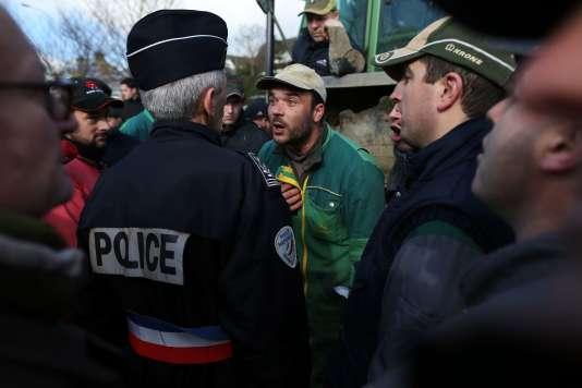 Manifestation d'agriculteurs à Caen le 15 février.