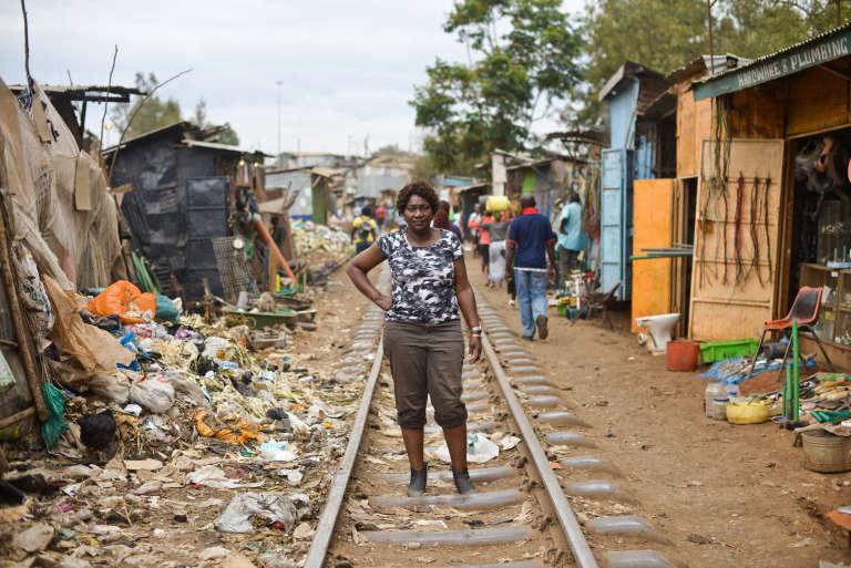 Jacqueline Mutere, 48 ans, dans le bidonville de Kibera, à Nairobi. Elle a été violée en 2007 par un homme qu'elle connaît.