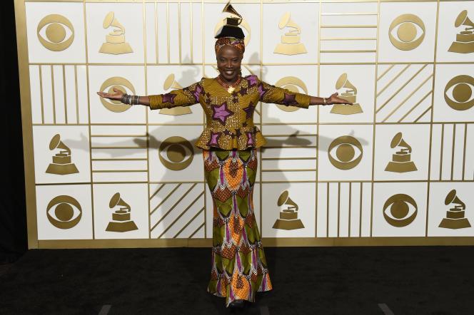 Angélique Kidjo lors de la cérémonie des Grammy Awards à Los Angeles, en février 2016.