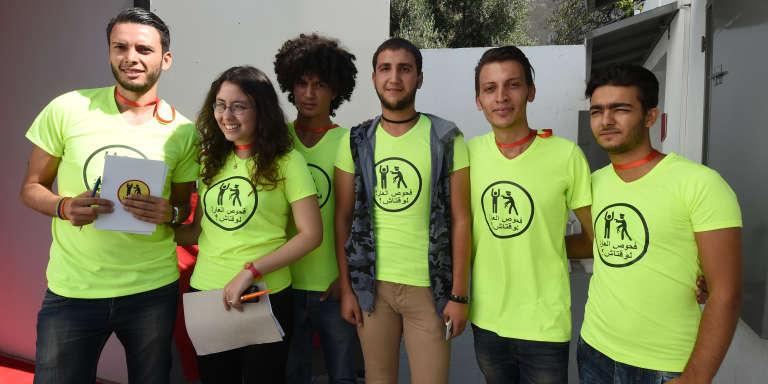 Des membres de l'association Shams, qui lutte pour la défense de la cause LGBT en Tunisie.