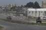 Des véhicules blindés turcs  dans le village de Nusaybin,  à la frontière turco-syrienne, le14 février.