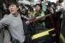 A la sortie du tribunal de Hongkong, le 11février, après le procès de participants aux émeutes du mardi 9février.